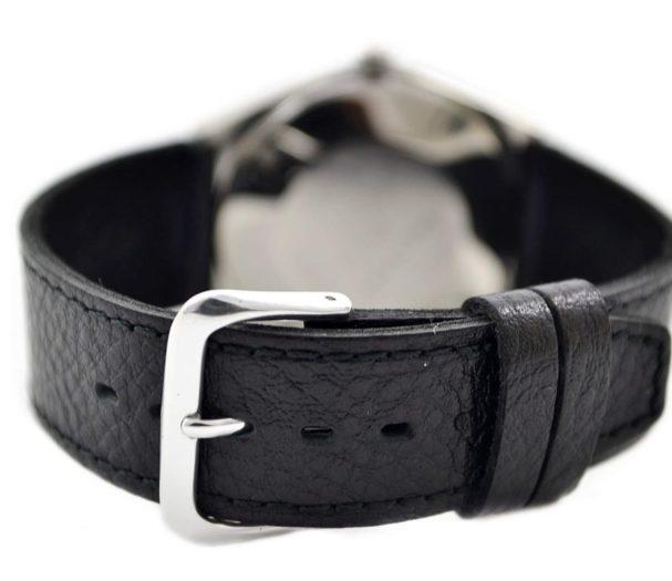 genuine black leather strap new