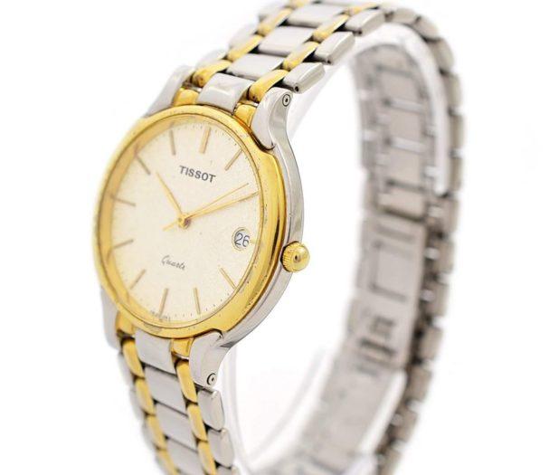 Vintage Tissot Two Tone Midsize Day/Date Quartz Watch time piece