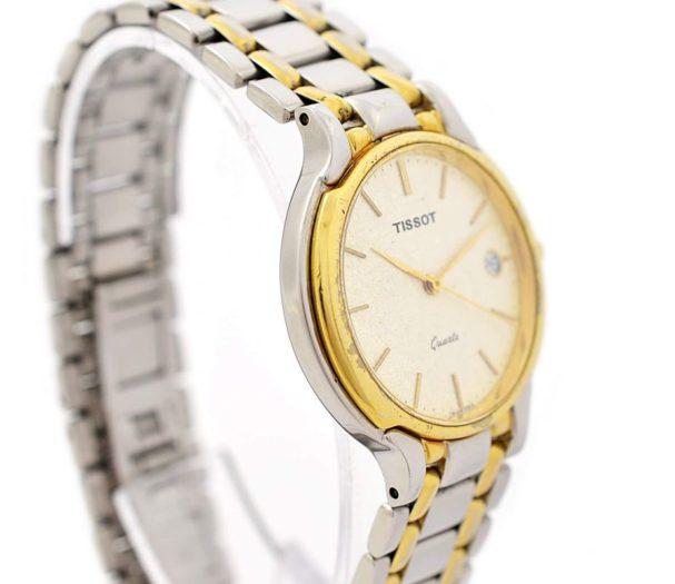 Vintage Tissot Two Tone Midsize Day/Date Quartz Watch mens