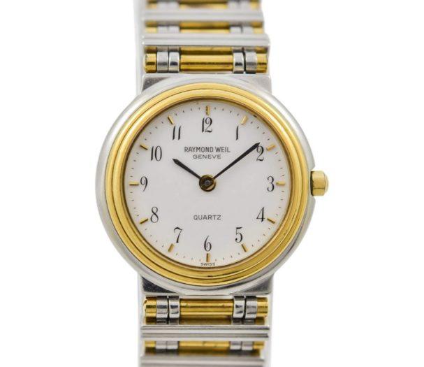 Vintage Raymond Weil Geneve 8082 Stainless Steel Two Tone Ladies Quartz Watch