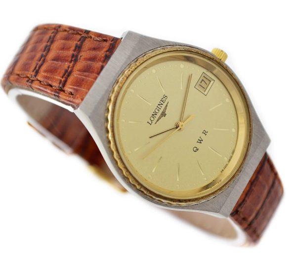 Vintage Longines Q W R Stainless Steel Quartz Men's Watch