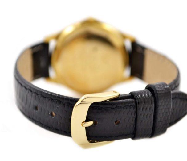genuine black leather strap