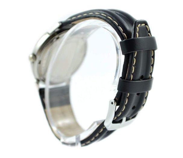 black strap brand new genuine leather silver buckle