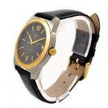 black dial date gold bezel tissot