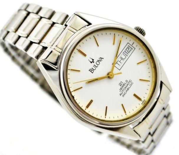 silver vintage watch