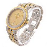 Bulova Date 18kgp S.S Classic Quartz Midsize Watch