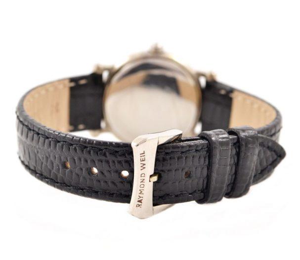 Raymond Weil Geneve Stainless Steel Quartz Ladies Watch black leather