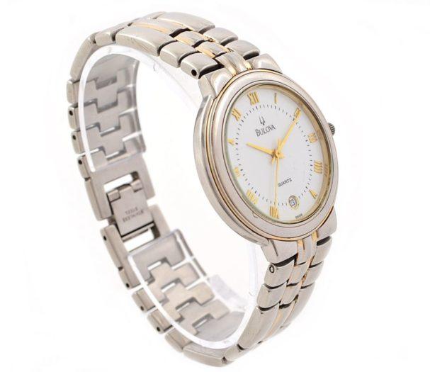 Pre-Owned Bulova Date Two Tone Quartz Midsize Watch