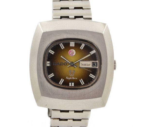 Pre-Owned Rado Purple Horse Day/Date Automatic Men's Watch swiss