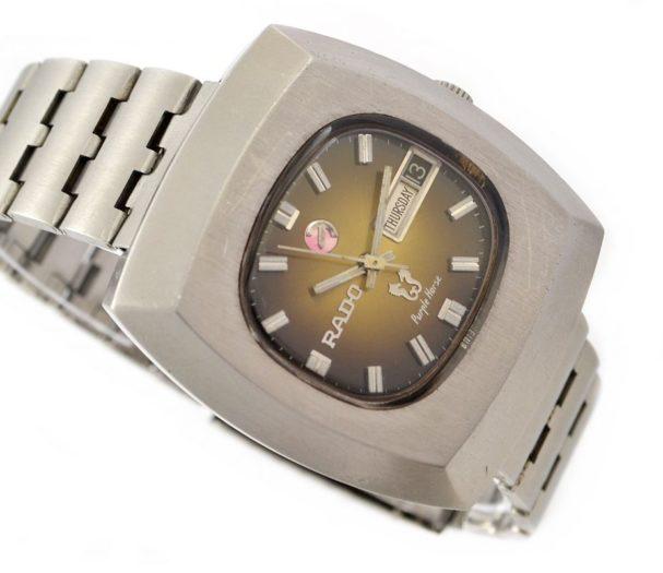 Pre-Owned Rado Purple Horse Day/Date Automatic Men's Watch retro