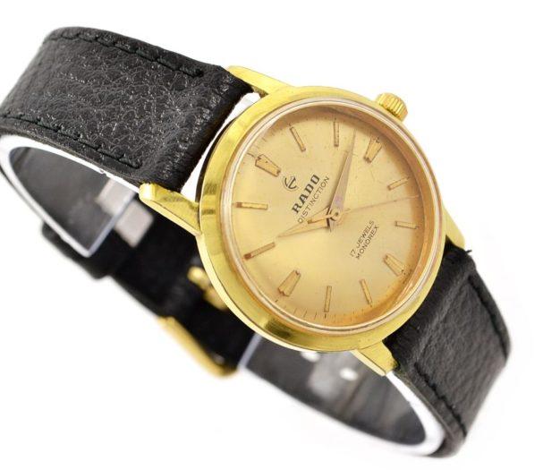 Vintage Rado Hand Winding Distinction Gold Plated ladies Watch