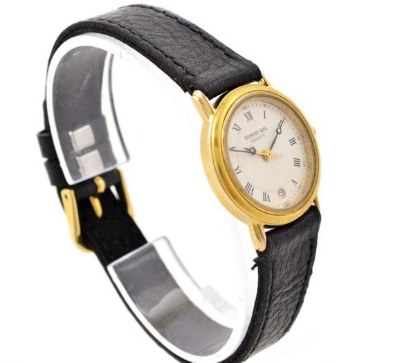 Vintage Raymond Weil Geneve 18kt Gold Plated Quartz Ladies Petite Watch