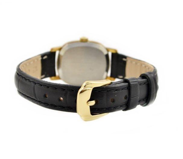 black genuine leather new strap vintage omega
