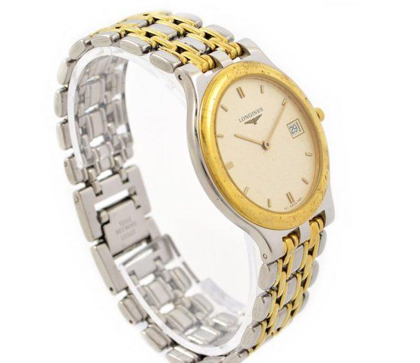 Longines Date 18kgp/Stainless Steel Quartz Midsize Watch