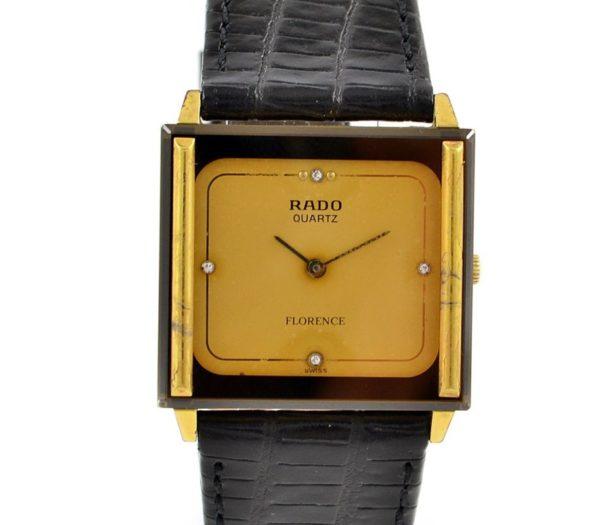 Rado Florence Gold Plated Quartz Midsize Watch time piece
