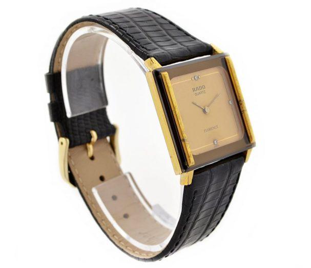 Rado Florence Gold Plated Quartz Midsize Watch 1990