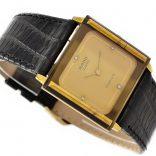 Rado Florence Gold Plated Quartz Midsize Watch leather