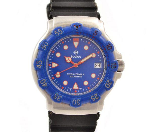 Pre-Owned Zodiac Swiss Formula 200m Date Quartz Midsize Watch 713.81.60