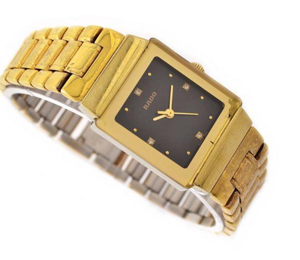 Rado Gold Plated Quartz Ladies Watch