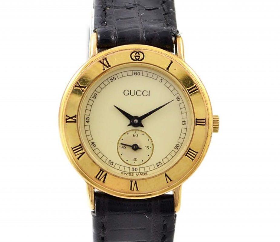 Gucci 3000.2.L Gold Sub Dial