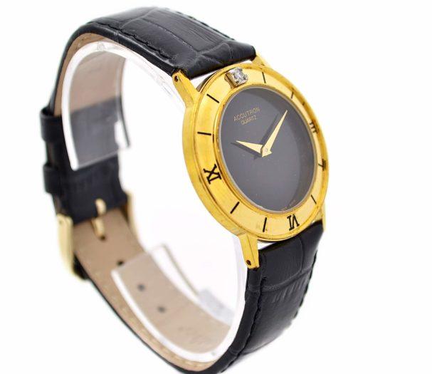 Bulova Accutron Gold Plated Quartz MidsizeWatch