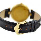 genuine leather black strap gold