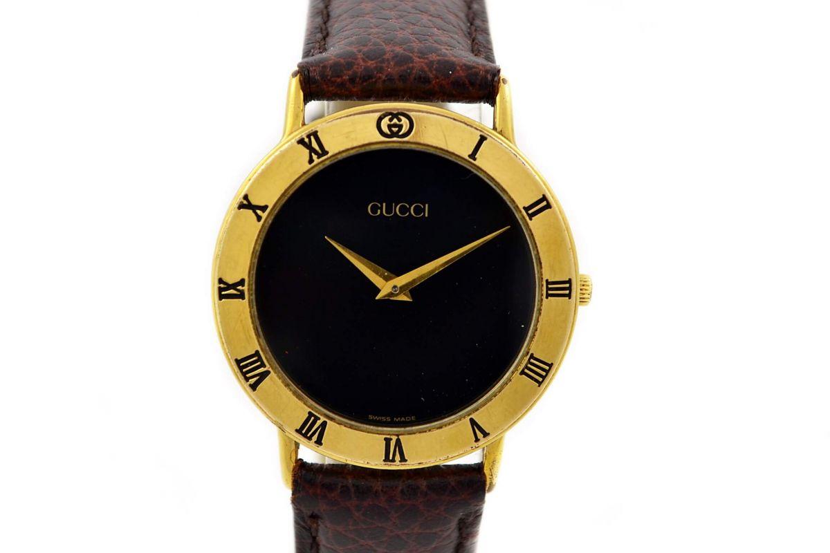 Vintage Gucci 3000.2M Quartz Gold Plated Midsize Watch