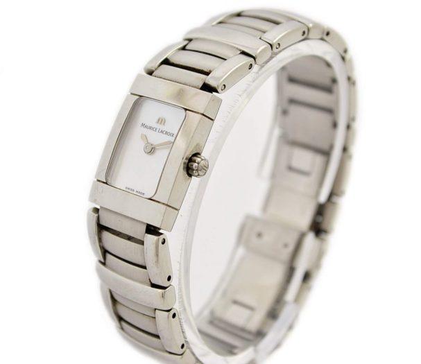 Vintage Maurice Lacroix Ladies Miros 32823 Stainless Steel Quartz Watch 1990
