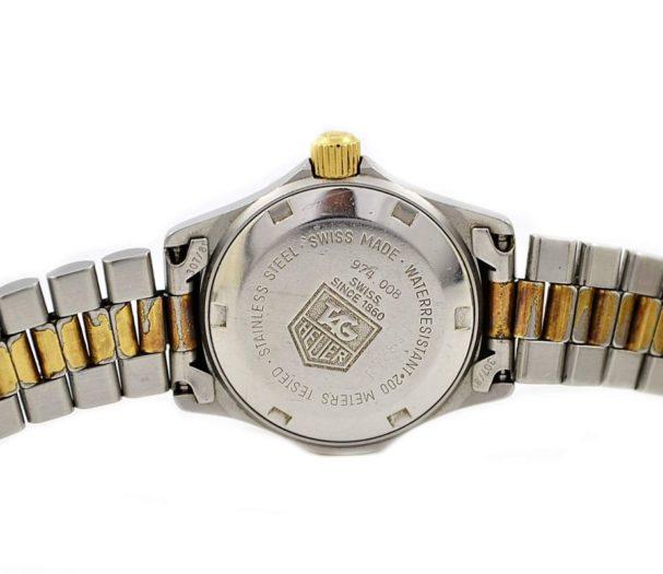 Vintage Tag Heuer 2000 Series 974.008 Quartz Two Tone Ladies Watch 1990