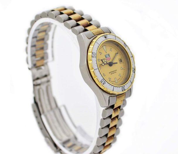 Vintage Tag Heuer 2000 Series 974.008 Quartz Two Tone Ladies Watch retro