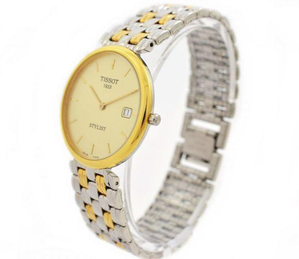 Vintage Tissot Stylist Midsize Quartz Stainless Steel Two Tone Watch