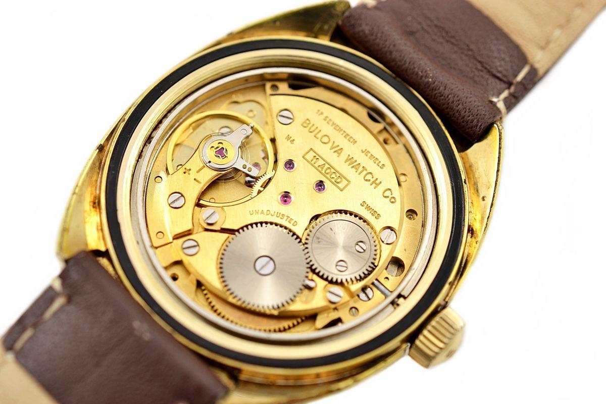 Vintage Bulova Oceanographer Gold Plated Manual Wind Mens Watch N2