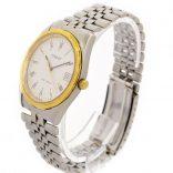 Vintage Tissot PR100 Stainless Steel Quartz Midsize Watch gold