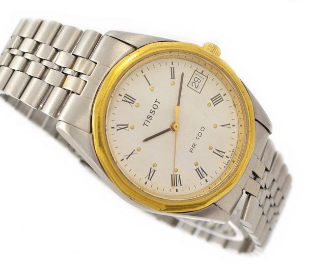 Vintage Tissot PR100 Stainless Steel Quartz Midsize Watch swiss