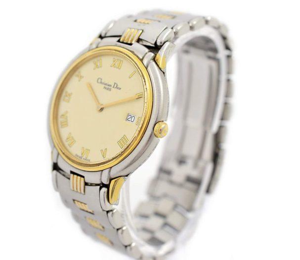 Pre-Owned Christian Dior Paris Date Midsize Quartz Watch 45.146 1990