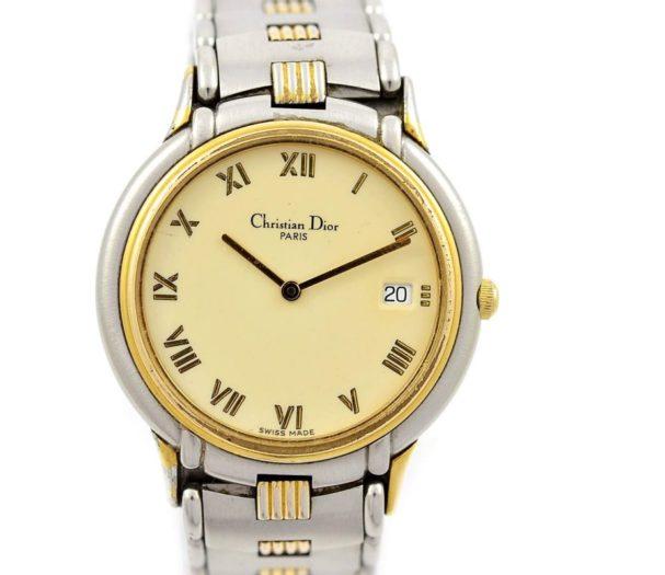 Pre-Owned Christian Dior Paris Date Midsize Quartz Watch 45.146 women