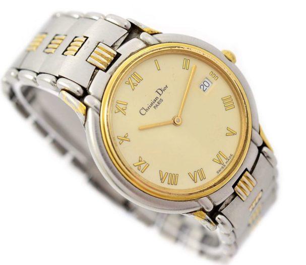 Pre-Owned Christian Dior Paris Date Midsize Quartz Watch 45.146 original