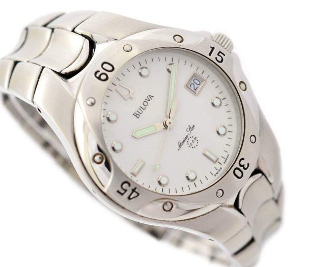 Pre-Owned Bulova Marine Star Date Quartz Men's Watch swiss