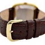 Vintage Omega De Ville Quartz Cal.1325 Gold Plated Mens Watch leather