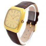 Vintage Omega De Ville Quartz Cal.1325 Gold Plated Mens Watch original