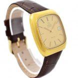 Vintage Omega De Ville Quartz Cal.1325 Gold Plated Mens Watch 18kt