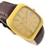 Vintage Omega De Ville Quartz Cal.1325 Gold Plated Mens Watch time piece