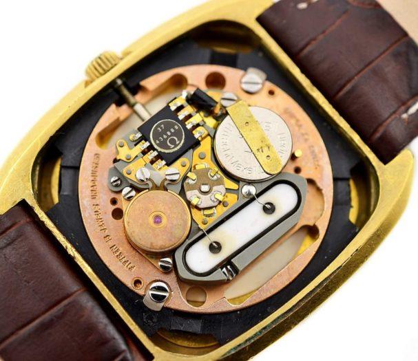 Vintage Omega De Ville Quartz Cal.1325 Gold Plated Mens Watch male