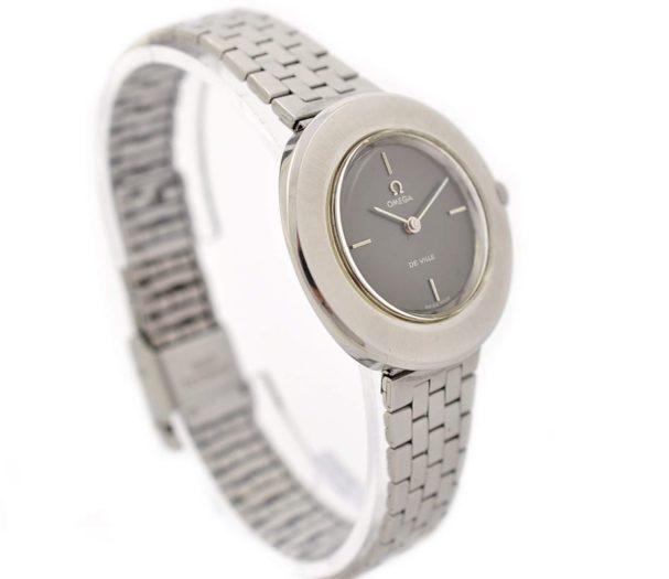 Vintage Omega De Ville Cal.620 Hand Wind Stainless Steel Ladies Watch grey dial