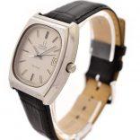 Vintage Omega De Ville Cal.1342 Quartz Stainless Steel Midsize Watch 1980