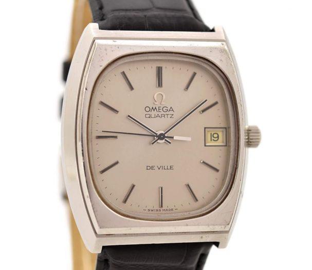 Vintage Omega De Ville Cal.1342 Quartz Stainless Steel Midsize Watch 1548 womens