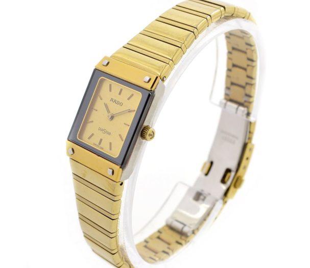 Vintage Rado Diastar Gold Plated Quartz Ladies Watch retro