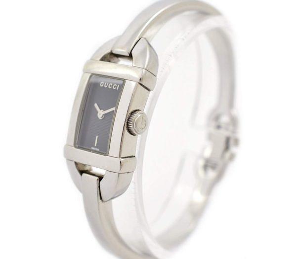 Pre-Owned Gucci 6800L Quartz Rectangular Ladies Bangle Watch original