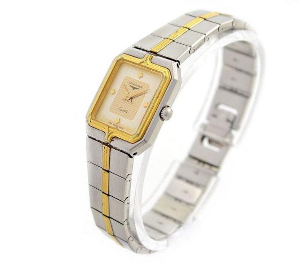 Vintage Longines Flagship Stainless Steel Two Tone Ladies Quartz Watch swiss