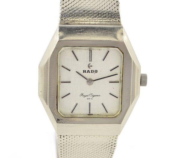 Vintage Rado Royal Elegance Stainless Steel Automatic Midsize Watch mens